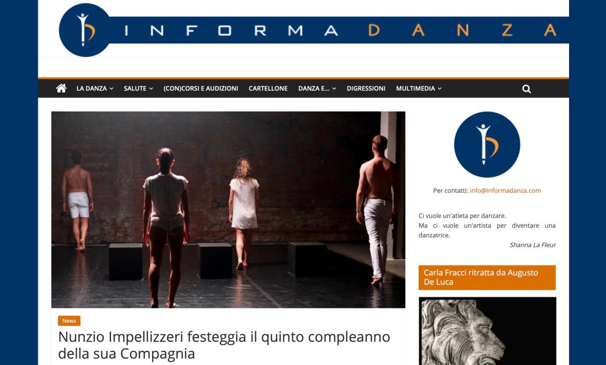 INFORMADANZA congratulates Nunzio and his company.